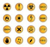 Botones del peligro Foto de archivo libre de regalías
