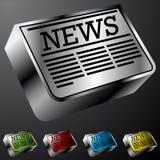 Botones del periódico Imagenes de archivo