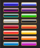 Botones del rectángulo Fotos de archivo libres de regalías