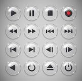 Botones del reproductor multimedia Imagenes de archivo