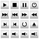 Botones del reproductor multimedia Imagen de archivo