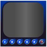 Botones del reproductor multimedia - ejemplo Fotos de archivo