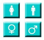 Botones del símbolo del género Fotografía de archivo libre de regalías