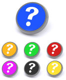Botones del signo de interrogación fotografía de archivo libre de regalías