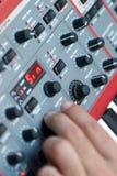 Botones del sintetizador Fotos de archivo