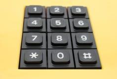 Botones del teléfono amarillo Imagen de archivo libre de regalías