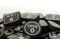 Botones del telclado numérico Imagenes de archivo