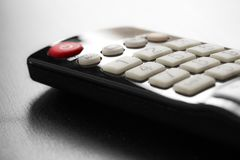 Botones del telecontrol de la TV Imágenes de archivo libres de regalías