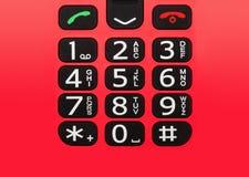 Botones del teléfono móvil Fotos de archivo libres de regalías