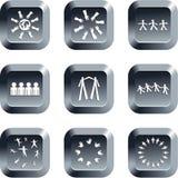 Botones del trabajo en equipo Imágenes de archivo libres de regalías