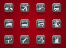 Botones del transporte Fotografía de archivo