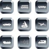 Botones del transporte Imagen de archivo libre de regalías
