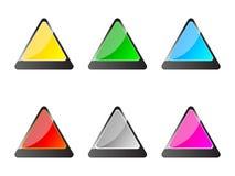 Botones del triángulo Fotos de archivo libres de regalías