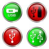 Botones del USB Imágenes de archivo libres de regalías