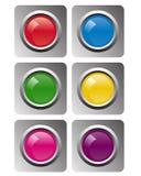 Botones del vector Imagenes de archivo