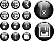 botones del vector 3D Foto de archivo libre de regalías