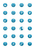 Botones del vector del Web site Imagenes de archivo