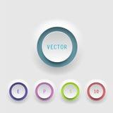 Botones del vector en el fondo blanco Foto de archivo