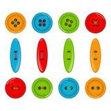Botones del vector fijados Foto de archivo