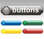 Botones del vector - octágono Fotos de archivo libres de regalías