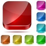 Botones del vidrio del color Imagen de archivo
