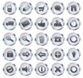 Botones del vidrio del icono del Web Foto de archivo libre de regalías