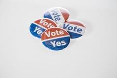 Botones del voto Imagen de archivo libre de regalías