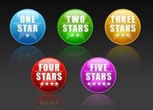 Botones del voto con las estrellas Foto de archivo