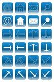 Botones del Web: 1 azul claro Fotos de archivo libres de regalías
