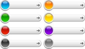 Botones del Web. Foto de archivo