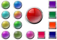 Botones del Web Fotos de archivo libres de regalías