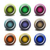 Botones del Web Fotos de archivo