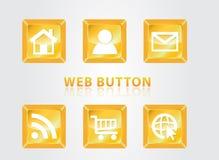 Botones del Web Foto de archivo