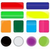 Botones del Web Foto de archivo libre de regalías