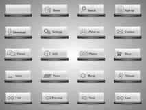 botones 19+1 del Web Fotos de archivo libres de regalías