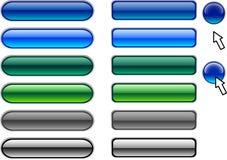 Botones del Web. Imágenes de archivo libres de regalías