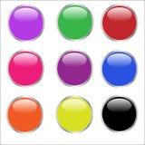 Botones del Web - brillantes Imagen de archivo libre de regalías