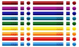 Botones del Web con las flechas Imagen de archivo libre de regalías