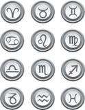 Botones del Web con las muestras de la astrología Fotos de archivo libres de regalías