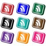 Botones del Web de la alimentación de RSS Fotos de archivo libres de regalías