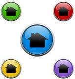 Botones del Web de la casa Fotografía de archivo libre de regalías