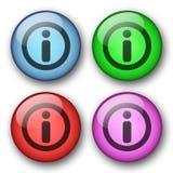 Botones del Web de la información Fotografía de archivo
