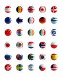 Botones del Web de los indicadores de país Foto de archivo