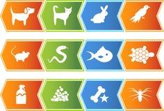 Botones del Web del animal doméstico - flecha