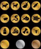 Botones del Web del animal doméstico - sello Fotos de archivo libres de regalías