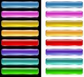 Botones del Web del Aqua Imagen de archivo libre de regalías