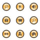 Botones del Web del color Foto de archivo