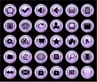 Botones del Web del color Fotografía de archivo