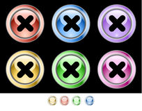 Botones del Web del color Foto de archivo libre de regalías