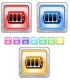 Botones del Web del color. Imagen de archivo